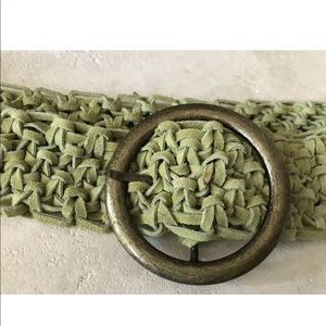Sage Green suede braided belt